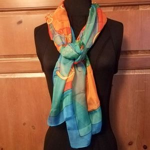 Beautiful Large Horsebit Chain Link Scarf Wrap